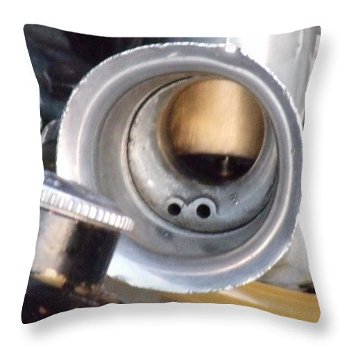David S Reynolds Throw Pillow featuring the photograph Carb by David S Reynolds