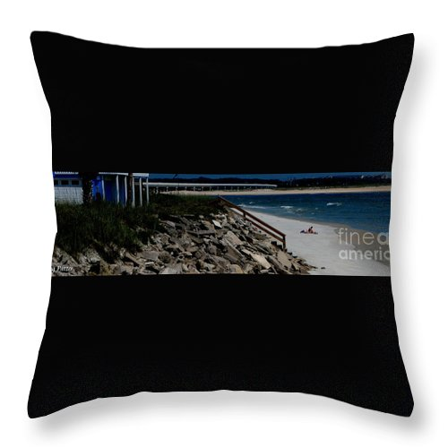 Beach Front Throw Pillow featuring the photograph Caribbean Colors by Greg Patzer