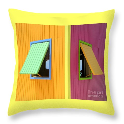 Caribbean Corner Throw Pillow featuring the photograph Caribbean Corner 3 by Randall Weidner