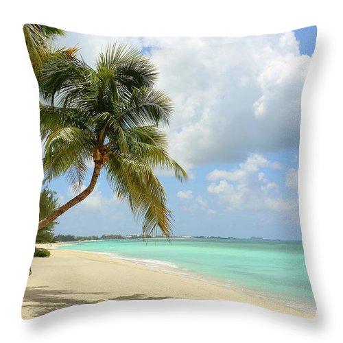 Scenics Throw Pillow featuring the photograph Caribbean Dream Beach by Shunyufan