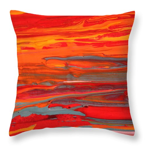 Modern Abstract Throw Pillow featuring the painting Caribbean Dreams 3 by Shelly Sexton