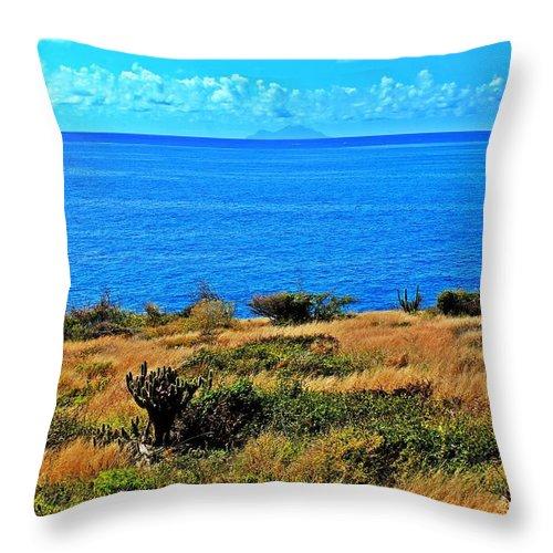 Caribbean Sea Throw Pillow featuring the photograph Caribbean Sea by James Markey