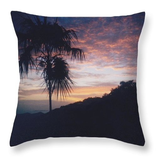 Sunset Throw Pillow featuring the photograph Caribbean Sunset by Glenn Scano