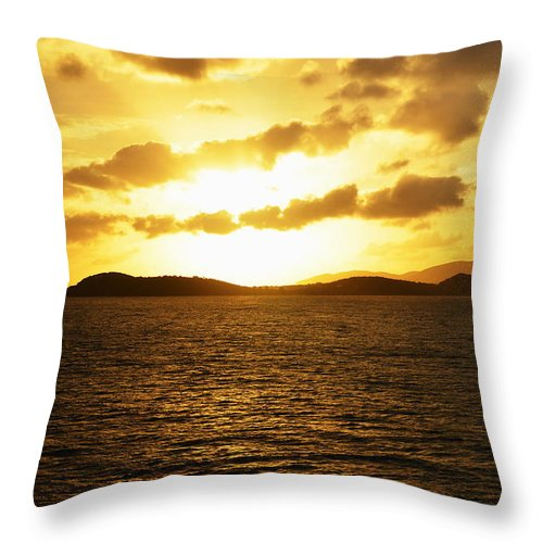 Caribbean Throw Pillow featuring the photograph Caribbean Sunset by Richard Booth