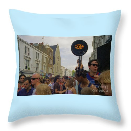Photography Throw Pillow featuring the photograph Carnival Celebration Social Occasion Crowds by Richard Morris