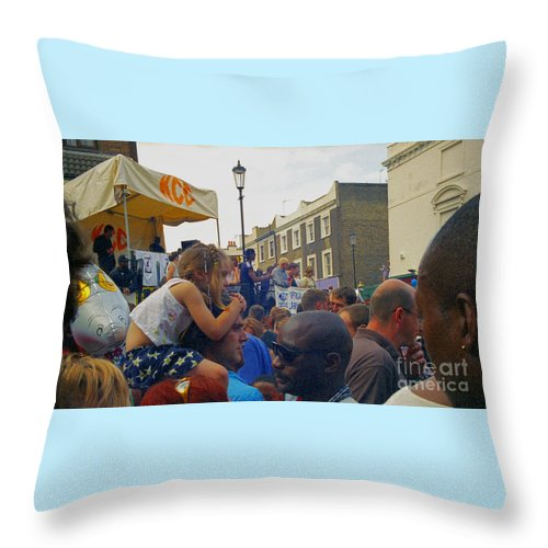 Photography Throw Pillow featuring the photograph Carnival Day Out Family Social Occasion by Richard Morris