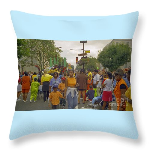 Photography Throw Pillow featuring the photograph Carnival Outdoor Celebrations Social Occasion by Richard Morris