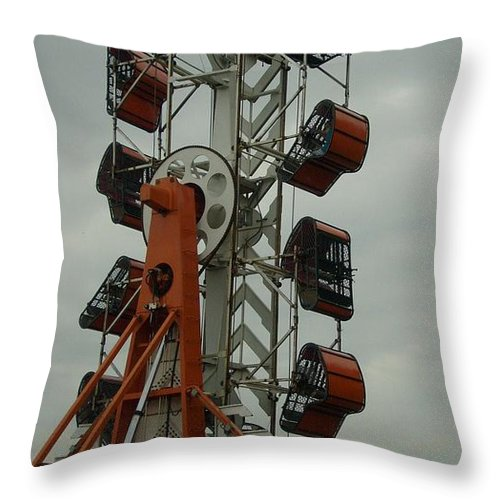 Carnival Framed Print Throw Pillow featuring the photograph Carnival Zipper by Ann Willmore