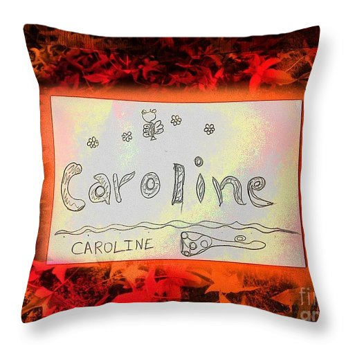 Name Throw Pillow featuring the photograph Caroline by GOLDA Zehava TALOR