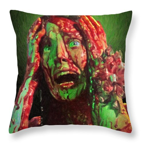 Carrie Throw Pillow featuring the painting Carrie by Zapista