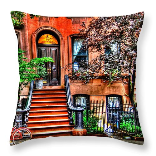 Sex And The City Throw Pillow featuring the photograph Carrie's Place - Sex And The City by Randy Aveille