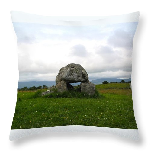 Carrowmore Throw Pillow featuring the photograph Carrowmore Dolmen by Denise Mazzocco