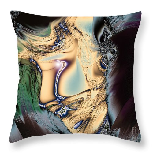 2-dimensional Throw Pillow featuring the digital art Carry On by Dana Haynes