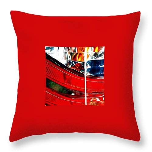 Sportscar Throw Pillow featuring the photograph Brake Light by J Roustie