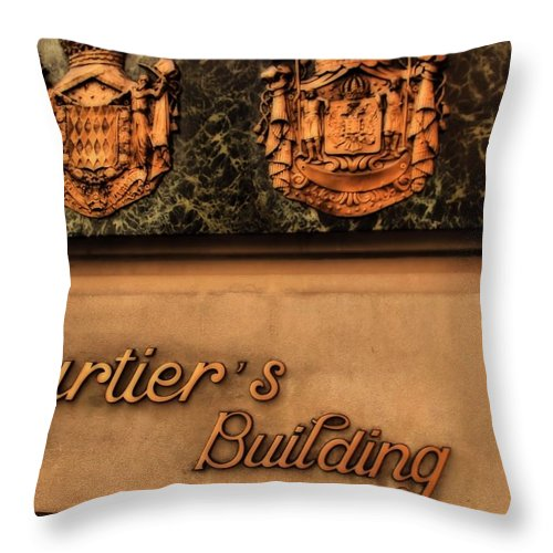 Cartier Jewellery Throw Pillow featuring the photograph Cartier Jewellery by Dan Sproul