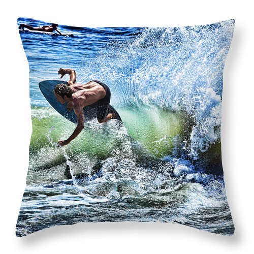 Surf Throw Pillow featuring the photograph Carving by Kelley King