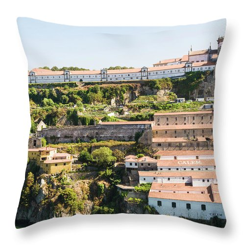 Clear Sky Throw Pillow featuring the photograph Casa Calem, Port Wine Houses, Porto by John Harper