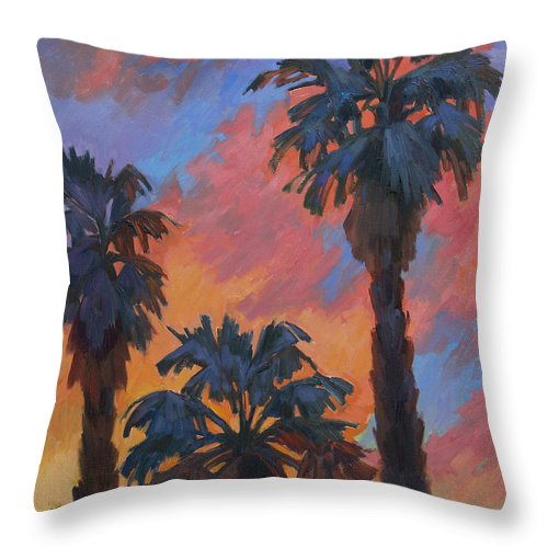 Casa Tecate Throw Pillow featuring the painting Casa Tecate Sunrise by Diane McClary