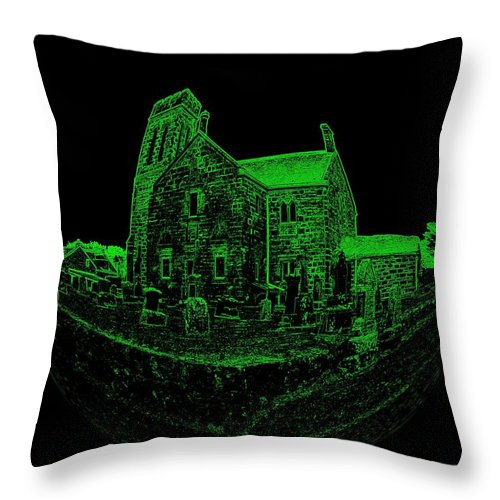 Dunlop Throw Pillow featuring the photograph Casa Verde by James Potts