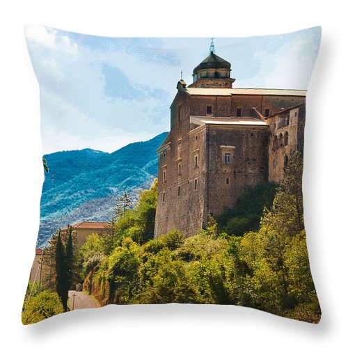 Casalvieri Throw Pillow featuring the photograph Casalvieri by Dany Lison