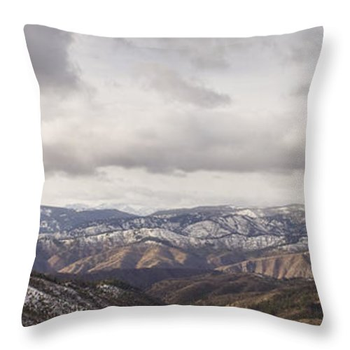 Panorama Throw Pillow featuring the photograph Cascade Panorama by Andrea Goodrich