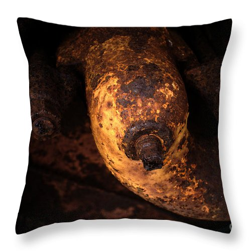 Abstract Throw Pillow featuring the photograph Case Tractor Abstract by Gary Richards
