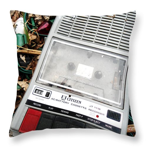 Old Skool Throw Pillow featuring the photograph Cassette by Chloe Shackelton