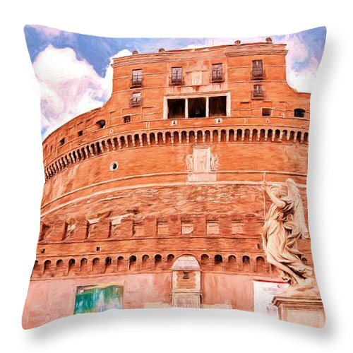 Rome Throw Pillow featuring the photograph Castel Sant'angelo by Bill Howard
