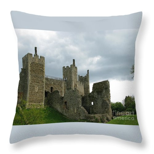 Castle Throw Pillow featuring the photograph Castle Curtain Wall by Ann Horn