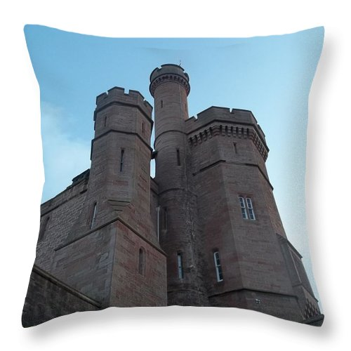 Inverness Throw Pillow featuring the photograph Castle In Inverness by James Potts