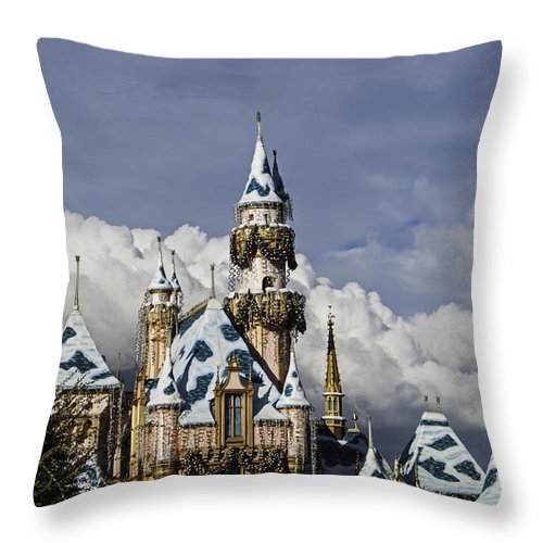 Castle Throw Pillow featuring the photograph Castle In The Clouds by Lynn Bauer