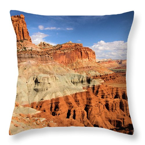 Castle Throw Pillow featuring the photograph Castle In The Sky by Adam Jewell
