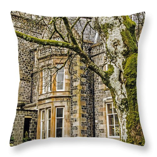 Travel Throw Pillow featuring the photograph Castle Of Scottish Highlands by Elvis Vaughn