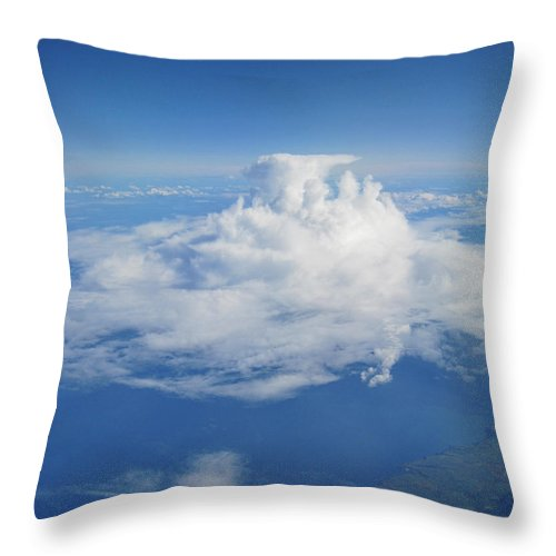 Sky Throw Pillow featuring the photograph Castle On A Cloud by IE Rowe