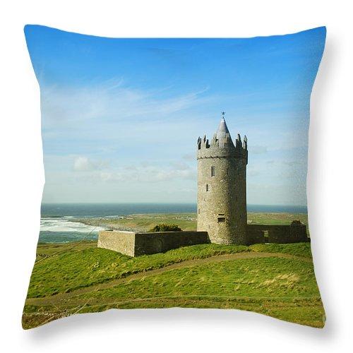 Ireland Throw Pillow featuring the photograph Castle On The Coast Of Ireland by Birgit Tyrrell