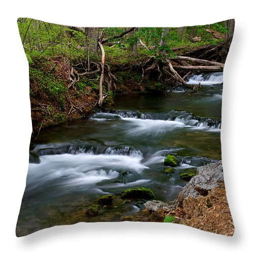 Flowing Throw Pillow featuring the photograph Casual Cascade by Marlene Frazier