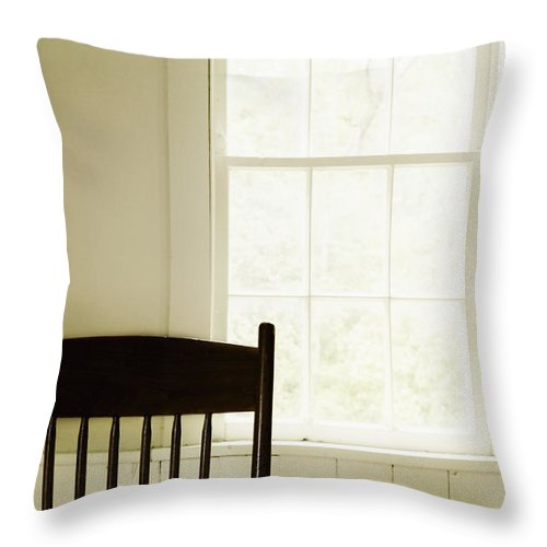 Chair Throw Pillow featuring the photograph Casual Dining by Margie Hurwich