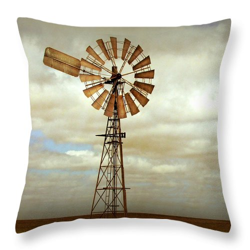 Windmill Throw Pillow featuring the photograph Catch The Wind by Holly Kempe