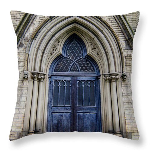 Buildings Throw Pillow featuring the photograph Cathedral Church Of St James 1105 by Guy Whiteley