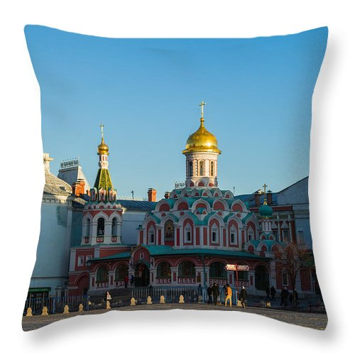 Architecture Throw Pillow featuring the photograph Cathedral Of Our Lady Of Kazan by Alexander Senin