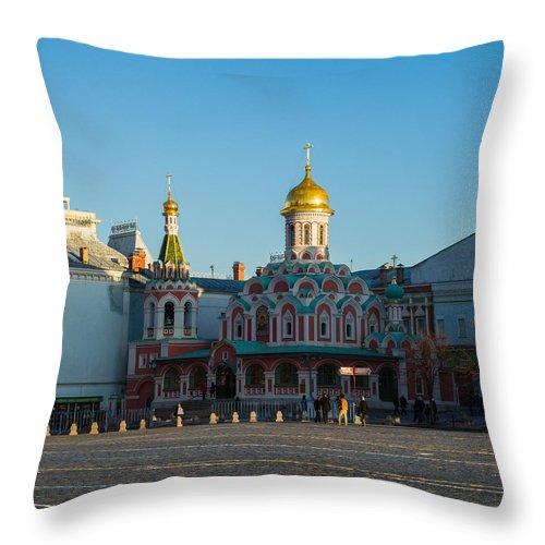 Architecture Throw Pillow featuring the photograph Cathedral Of Our Lady Of Kazan - Square by Alexander Senin