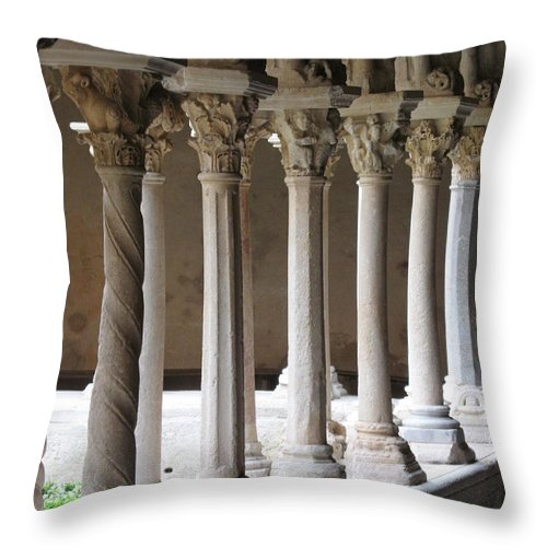 Croos Throw Pillow featuring the photograph Cathedral St Sauveur - Croos-coat by Christiane Schulze Art And Photography