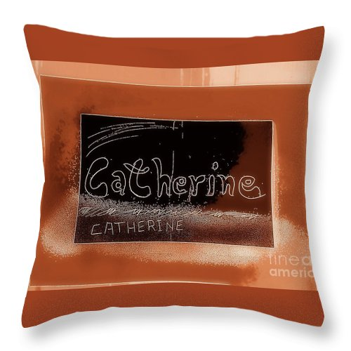 Cathrin Throw Pillow featuring the photograph Catherine by GOLDA Zehava TALOR