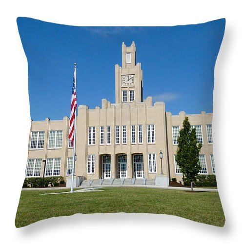 Catherine Hall Throw Pillow featuring the photograph Catherine Hall On Pats Hill by Mark Dodd