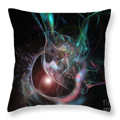 2-dimensional Throw Pillow featuring the digital art Silver Moon by Dana Haynes