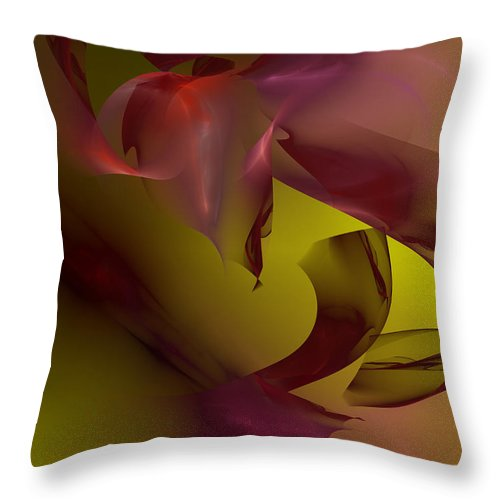 Abstract Throw Pillow featuring the digital art Cause An Effect by Jeff Iverson