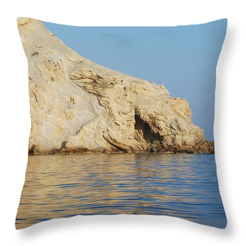 Cave Throw Pillow featuring the photograph Cave 2 by George Katechis