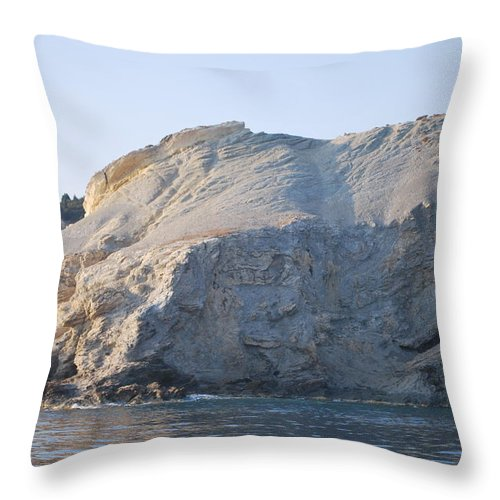 Cave Throw Pillow featuring the photograph Cave by George Katechis