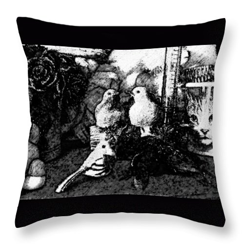 Cat Throw Pillow featuring the photograph CC2 by Costanza Canali
