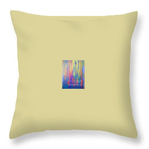 Throw Pillow featuring the painting Celebrate by Bebe Brookman